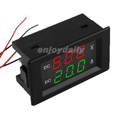 0.39 Dc600v 20a 100a Dual Led Digital Voltmeter Ammeter High Voltage Amps Meter