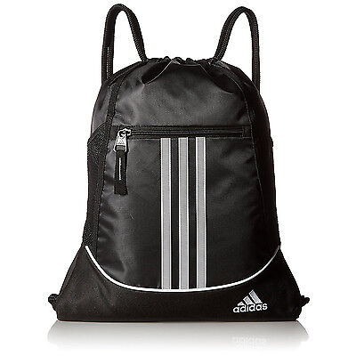 e501c661a2dd Adidas Drawstring Backpack Sackpack Sport Gym Bag School Travel Sack Pack  Black