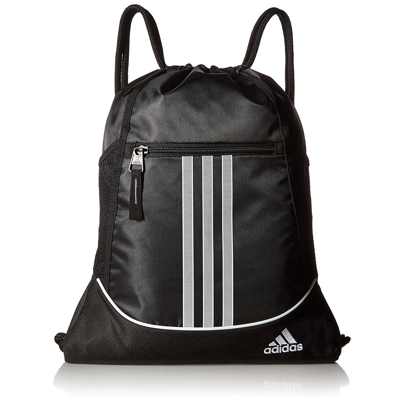 Adidas Drawstring Backpack Sackpack Sport Gym Bag School Travel Sack Pack Black