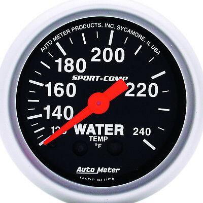 Autometer 3332 Sport-Comp Water Temperature Gauge 2-1/16 in., Mechanical