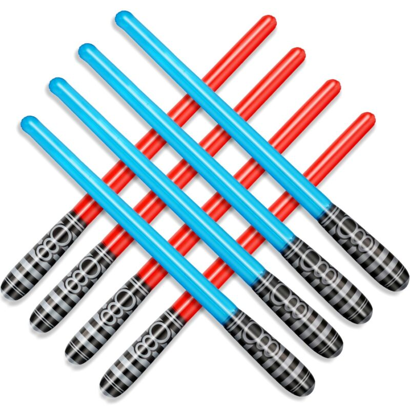 Novelty Place Inflatable Light Saber Sword Toys Set Party Favors 30 Inches 8 pcs