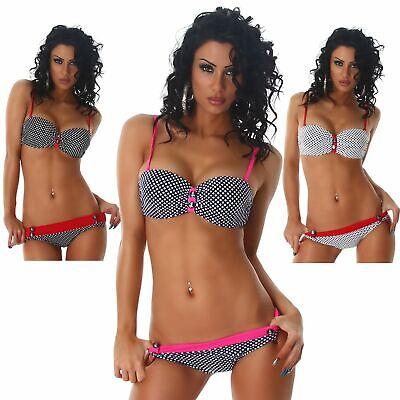 Träger Bikini Bandeau Push Up Beachwear Sommer Strand Größe Cup 70 A Hose 32-34