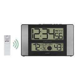 513-1417AL La Crosse Technology Atomic Digital Wall Clock TX141-BV2 Refurbished