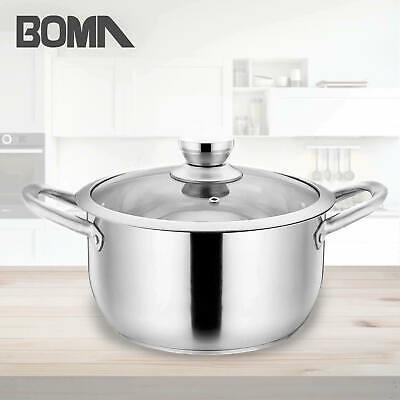 BOMA Stainless Steel 2-Piece 5-Quart Stock Pot
