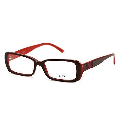Fendi Women's Authentic Eyeglasses FF768 603 Red/Wine 51 15 140 Full (Red Rimmed Glasses)