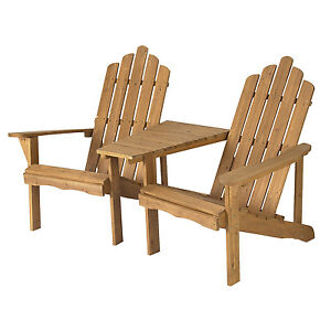 Astonica 50140699 Bench Adirondack Tete-a-Tete Table and 2 Chair Set