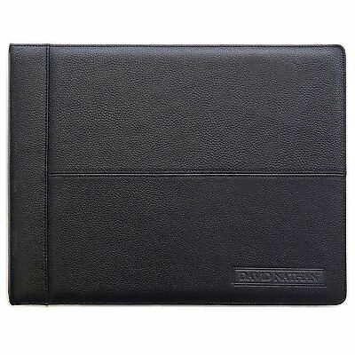 Leather 7 Ring Business Check Binder For 3 On A Page Checks By David Nathan...
