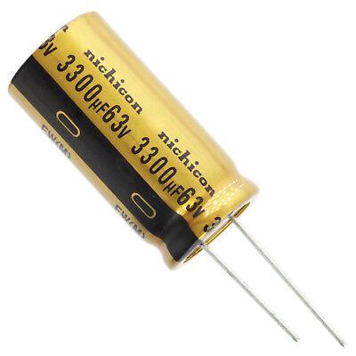 Nichicon Ufw Audio Grade Electrolytic Capacitor 3300uf 63v 20 Tolerance