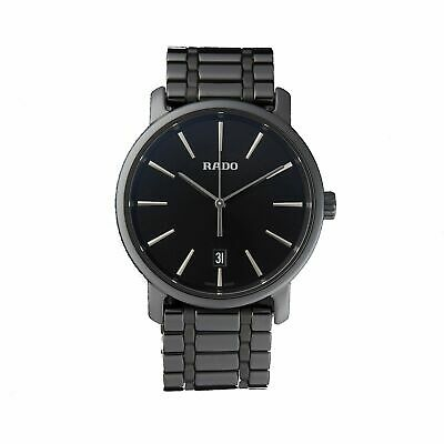 Rado R14066182 Men's Diamaster Ceramic Black Quartz Watch