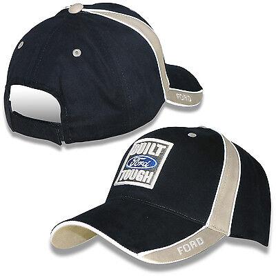 Built Ford Tough Navy Blue and Khaki Cotton Adjustable - Navy Blue Adjustable Hat