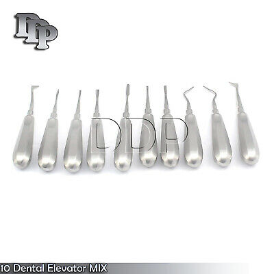 10 Dental Elevator Mix Surgical Medical Instruments New