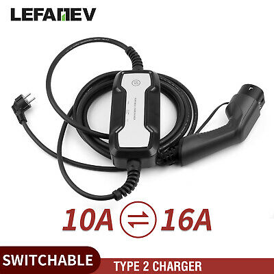 Level 2 Typ2 EV-Ladekabel Ladegerät Cable Elektroauto 10/16A SCHUKO Stecker IEC