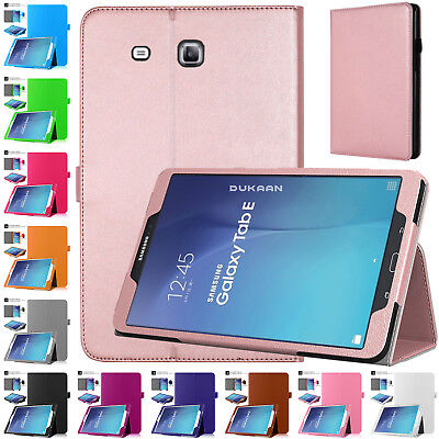 Leather Flip Stand Cover Case For Samsung Galaxy Tab E 9.6