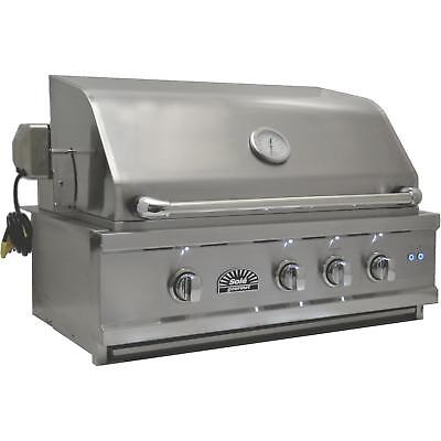 Sole Luxury 30-Inch Built-In Natural Gas Grill With Rotisser