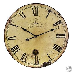 Large Wall Rustic Antique Clock Vintage Style Oversized Old Look Home Decoration
