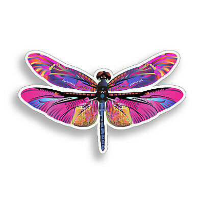Pink Purple Dragonfly Sticker Dragon Fly Bug Laptop Cup Car Vehicle Window -