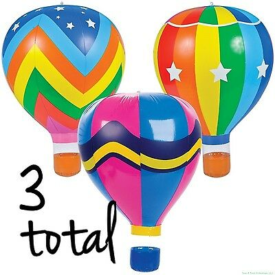 (3) Hot Air Balloon Inflatable Blow Ups Decoration Pool Party Toy Float - Hot Air Balloon Toy
