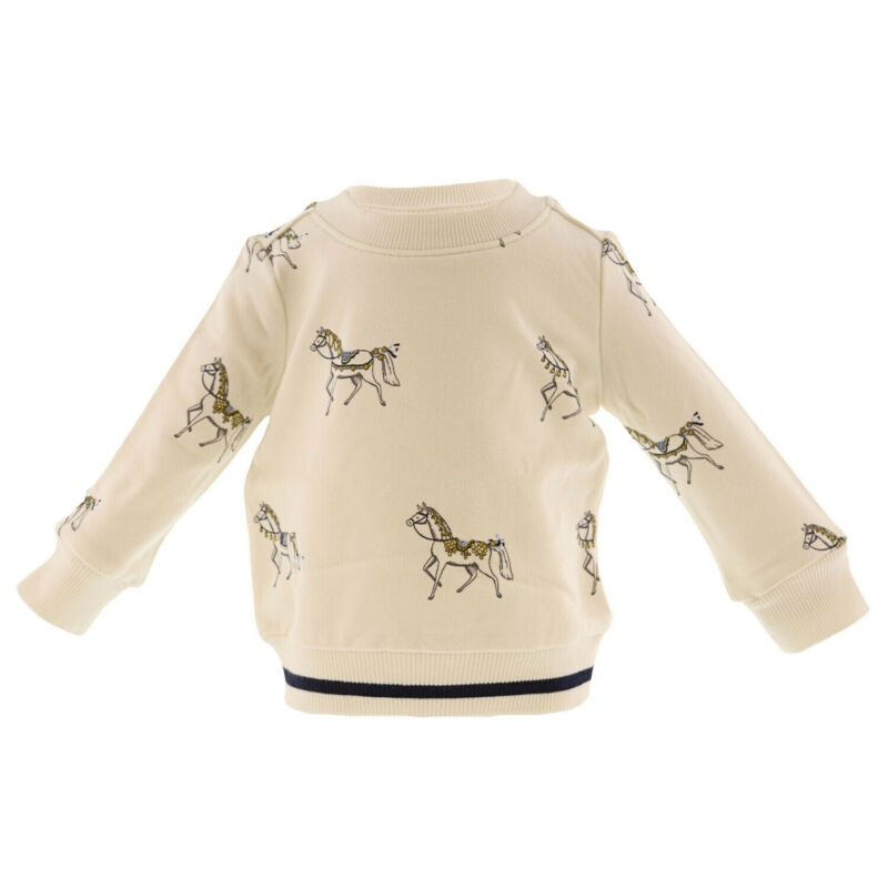 Janie And Jack Horse Print Pullover Active Sweatshirt