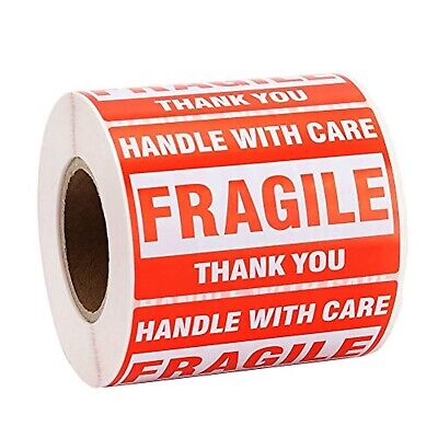500-1000 Labels 2 X 3fragile Stickers Handle With Care Warning Shipping Labels