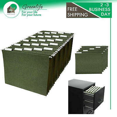 Amazonbasics Hanging Organizer File Folders - Letter Size Green 25-pack