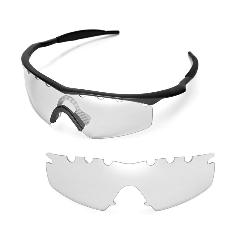 d39011e566 Walleva Clear Vented Replacement Lenses For Oakley M Frame Strike Sunglasses