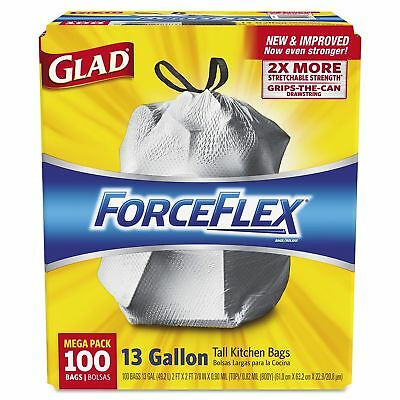 Glad ForceFlex 13 gallon Tall Kitchen Drawstring Trash