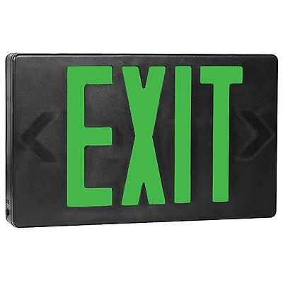 Green Black AC Only LED Universal Exit Sign Kamrock Lights KL-EXIT-GB-AC (Ac Only Exit Sign)