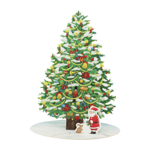 Twinkling Christmas Tree Pop Up Greeting Card / Christmas Card