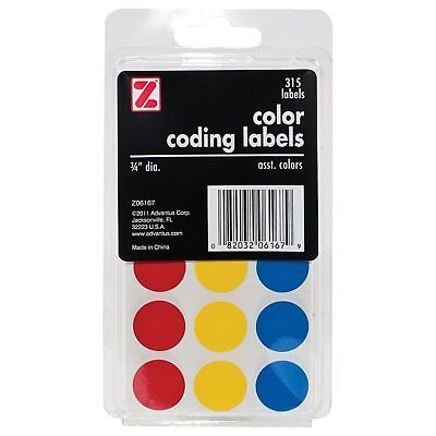 Advantus Self Adhesive Color Coding Labels 34 Circle 315 Labels