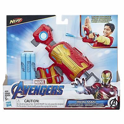 Nerf Gun Avengers Iron Man Repulsor Blast Gauntlet Dart Launching Toy Gift Kids