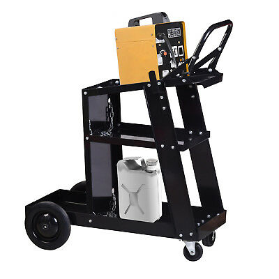 Welder Welding Mig Tig Arc Cart Plasma Cutter Universal Storage For Tanks Handle