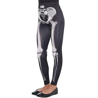 Kids Girls Gothic Skeleton Bones Footless Leggings Hosiery Halloween Accessory - Girls Skeleton Leggings
