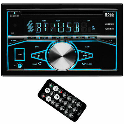 Boss Audio Systems 850BRGB Double DIN Bluetooth CD Player & Radio Car Stereo