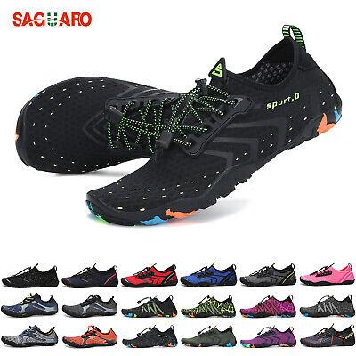 SAGUARO Mens Womens Water Shoes Barefoot Aqua Socks Beach Pool Sports US 4.5-13 ()