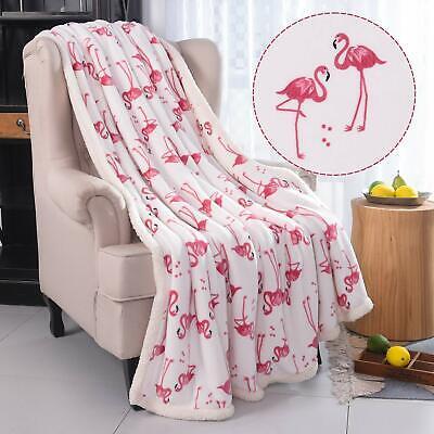 Xmas Gift Flamingo Fuzzy Blanket 50X60 thrown Size Fluffy Blanket Velvet B ()