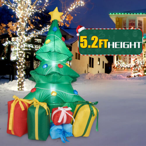 5.2Ft Christmas Inflatable Christmas Tree with Gifts LED Lighted Outdoor Decor