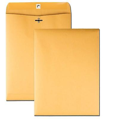 Quality Park Clasp Envelopes 9 X 12 Brown Kraft Gummed Flaps 100 Count