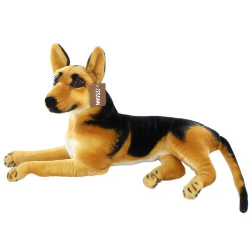 JESONN Lifelike Stuffed Animals Shepherd Dog Toys Plush for Kids Gifts 23.6 Inch