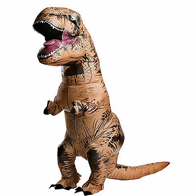 Cosplay For Children (T-REX Dinosaur Inflatable Costume Suit Outfit w/Batteries Fans For Kids)