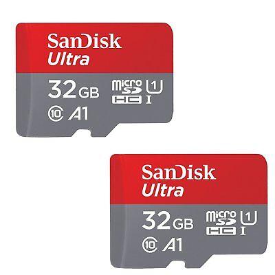 2x SanDisk 32GB Ultra 653x 98MB/s Class 10 UHS-I Micro SD SDHC Speicherkarte