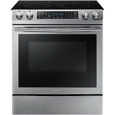 "SAMSUNG Stainless Steel Convection 30"" Electric Slide in Range NE58K9430SS"