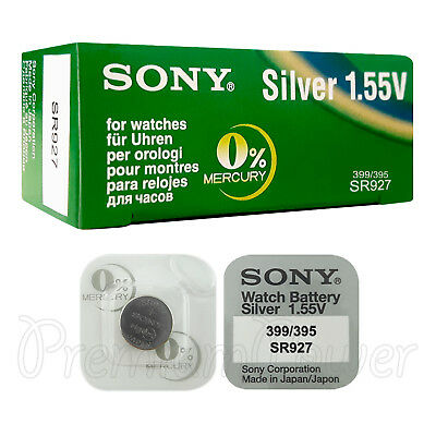 2 x SONY 395 399 batteries Silver oxide 1.5V SR927SW SR57 V395 V399 for watches for sale  Shipping to Canada