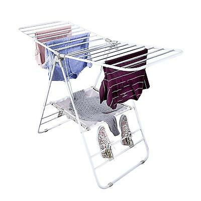 Folding Laundry Dryer Rack Stand Indoor Clothes Line Drying Hanger