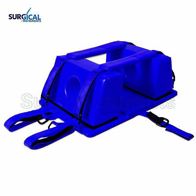 Emergency Spine Board Reusable Head Immobilizer For Emsemt Blue Color