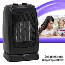 Portable Space Heater Electric Oscillating Ceramic Room Office Thermostat 1500W