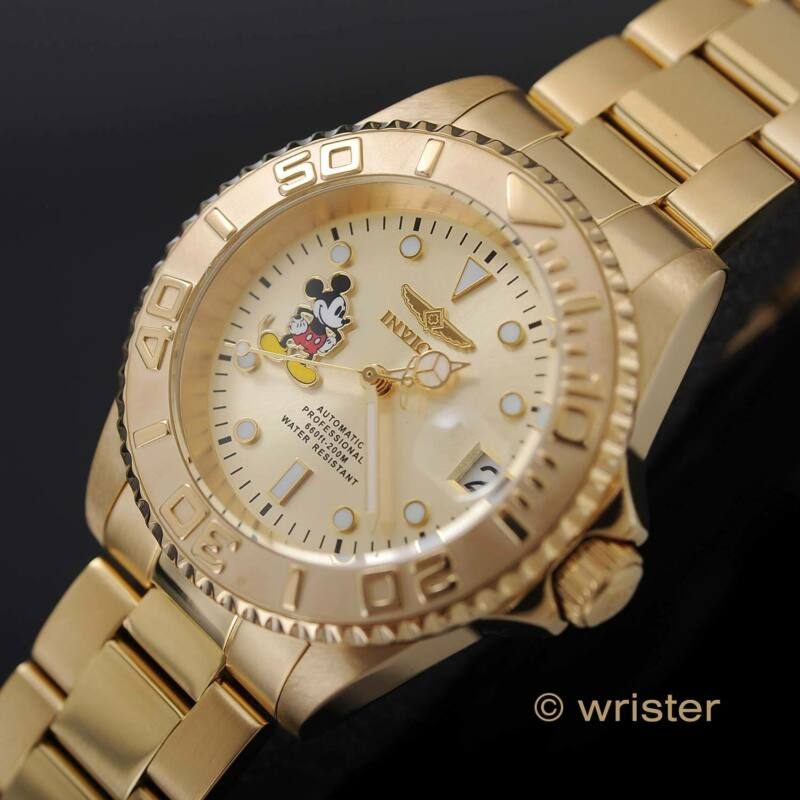 Invicta Disney Mickey Mouse Pro Diver Gold Limited Edition Automatic Men's