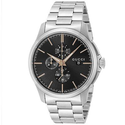 3ba67757dfc GUCCI G Timeless Chrono Quartz Chronograph Black Dial Men s Watch YA126272