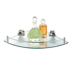 corner bathroom glass shelf - Bathroom Glass Shelves