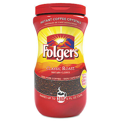 - Folgers Instant Coffee Crystals Classic Roast 16oz Jar 06922