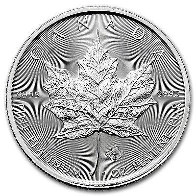 2016 Canada 1 oz Platinum Maple Leaf BU - SKU #95274